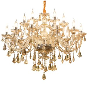 Europeu de luxo de cristal sala de estar iluminação atmosfera casa quarto sala de jantar lustre 2018 novo simples europeu lâmpadas sala de estudo