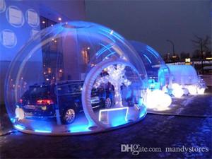 Transparentes aufblasbares Luftblasenhüttenzelt / riesiges aufblasbares Luftblasenzeltzelt / kampierendes aufblasbares Schneeblasenzelt