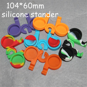 20pcs 104*60mm silicone base for 5ml nonstick wax container jar oil silicone container with the free shipping DHL