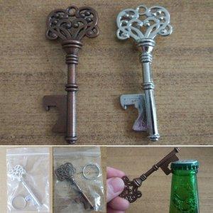 Старинные брелок открывалки для пива бутылки металла Кока может Открытие инструмент с кольцом и цепи линии кухня бар инструмент WX9-508