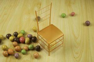 200pcs Золотой стул PVC Transparent Candy Box Фавор Подарочная коробка Свадебные Box Baby Shower Коробки свадебные сувениры и подарки