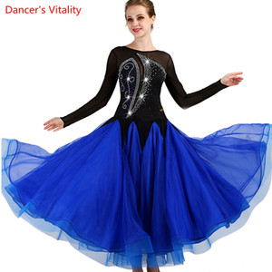 2018 nach Maß Tanz Strass Sexy Senior Ballroom Dance Kleid für Frauen Ballsaal Kleider Walzer Kleid