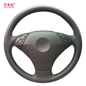 Yuji-hong couro artificial volante carro capas case para bmw 5-classe e60 520 523 525 530 535 545 mão-costurado capa