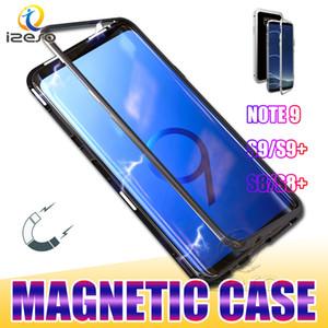 Para Samsung Nota 20 Ultra S20 Mais de S10 Lite A21S A11 M31 Magnetic Adsorção tampa do painel Phone Case Mobile Back vidro temperado izeso