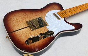 Custom Shop Мерл Хаггард Tuff Собака Tele TL Brown Sunburst стеганый Maple Top Guitar Electric Maple Neck, White Pearl накладку Тюнеры