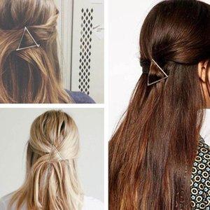 Élégant Les femmes coréennes Simple Designminimalist Dainty Or Argent creux Triangle géométrique en métal Épingle cheveux clip 10pairs cadeau de Noël