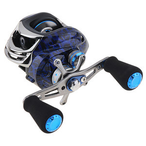 Double Brake Baitcasting Reel 14+1 BB   11LB Water Drop Wheel Bearings Fishing Reel with Right Left Hand