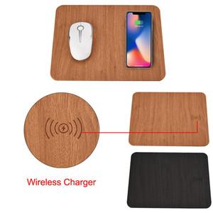 2018 el más nuevo Qi Estándar de carga inalámbrica Mouse Pad para iPhone 8/8 Plus / X para Samsung Note 8 / S8 / S8 Plus
