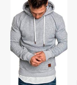 Hommes Hoodies solides à capuche Casual Automne Hiver Automne Nouveaux Sweatshirts Athlétiques Sports Tops