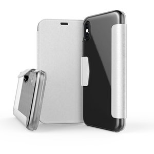 X -Doria Defense Engage Folio Flip Case For Iphone X Cover ,Leather Wallet Cover Built -In Card Solf Coque For Iphone X Case