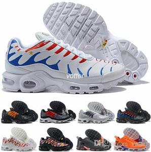 2018 Mercurial Tn Plus SE 2 Coppa del Mondo internazionali Bandiera Francia Running Shoes Tns delle donne degli uomini del NIC QS Sport d'aria Sneakers Chaussures