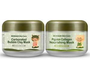 BIOAQUA skin care pigskin collagen nourishing mask Carbonated Bubble Clay Mask Elizavecca Milky Piggy Moisturising Facial Sleep Masks
