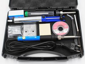 60 Вт 220 В 110 в регулируемая температура электрический утюг голову набор железа наконечник всасывания кронштейн Кос сварочная коробка