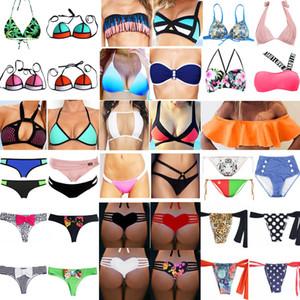Mulheres Sexy Brasileira Biquíni Tanga Top Bottom Leopardo Swimwear Biquíni Floral Hortelã Bow Bottom Maiô Cuecas Beachwear