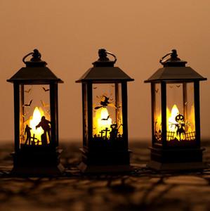 Calabazas de Halloween / Mano fantasma / Castillo Luces LED Luz de llama artificial Lámpara de aceite pequeña LED Cosplay Suministros Decoración de fiesta Decoración de Halloween