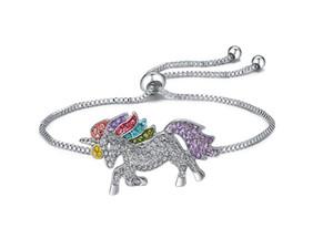 Unicorn Kindertages justierbares Armband