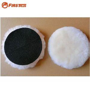 Beste Qualität! 100% natürliche wolle polierscheibe autolack schleifen wachsen polieren klebstoff pads für auto polierer puffer