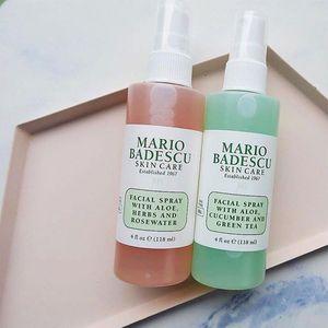 Mario Badescu Cuidado de la piel spray facial con Aloe pepino y té verde Hierbas y la cara Rosewater 118ml Toners DHL