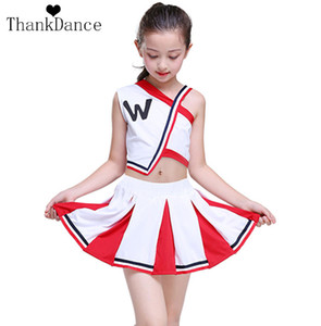 Fille Cheerleader Uniformes Enfants Cheer Team Costumes Filles Cheerleading Uniformes G Calisthenics Costume Étudiant Compétition Costume