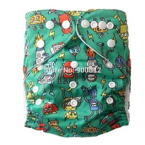 Pañales de tela de bolsillo Patrón OS Lavable Leaking Guard Orina Pañales con inserciones de microfibra 500 juegos 1 + 1 Envío gratis