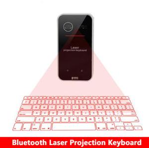Neue Bluetooth Virtuelle Laserprojektionstastatur mit Mausfunktion für Smartphone PC Laptop Tragbare drahtlose Tastatur
