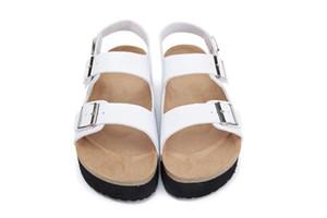 Новый бренд Брик Аризона горячая распродажа лето женщины квартиры сандалии пробки тапочки свободного покроя толстым дном с открытым носком из натуральной кожи обувь размер 35-46
