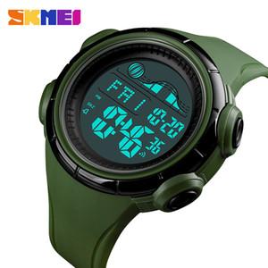 Original SKMEI 1379 hombres dos veces deporte exterior reloj de pulsera impermeable LCD retroiluminación militar del ejército de alta calidad electrónica relojes digitales