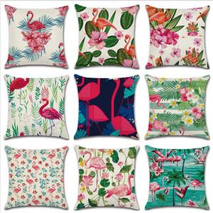 45 * 45 centimetri Flamingo tropicale dicendo libertà Passione Cuscino Lino Cuscino auto Decorazione della casa Federa decorativa