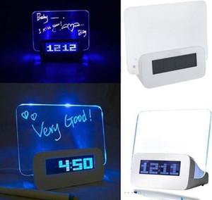 Mode Multifuntion fluoreszierende Nachricht elektronische Bord Wecker mit Mini Textmarker Liebhaber Geschenk beruhigen leuchtende Neon Nachricht