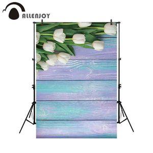 Toptan fotoğraf stüdyosu için lale çiçek renkli ahşap fotoğraf arka plan backdrop photocall fotoğraf çekimi prop photobooth