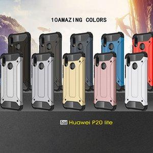 Huawei P20 2 in 1 Defender 케이스 고 충격 내구성 견고한 전화 케이스 Huawei P20 용 미끄럼 방지 케이스