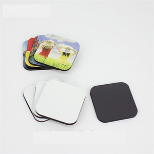 Blanc aimants de réfrigérateur mdf pour sublimation de colorant en bois aimant de réfrigérateur impression de transfert de coeur bricolage consommables fournitures DI-004 styles de mélange