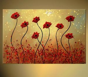 Satış Sanat Güzellik İçin% 100 Handpainted Özet Çiçek Sanat Resim Tuval Sanat Dekor için Akrilik Paint Alıntılar