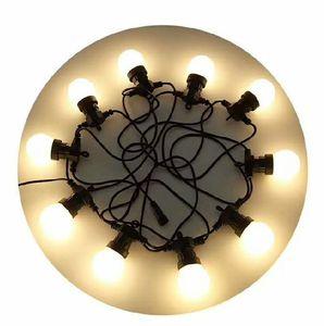 Luces de bulbo de la secuencia de los 5m 10LED ningunas lámparas al aire libre de la Navidad de destello con el enchufe de la cola de DC