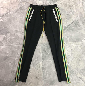 Mens Hip Hop Athletic pantaloni a strisce laterali pantaloni casuali Jogger sportivo Pantaloni maschili elastico in vita Solido Colore High Street Sweatpants