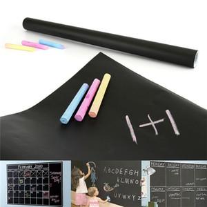 45x200 cm Tebeşir Kurulu Blackboard Çıkartmaları Çıkarılabilir Vinil Beraberlik Dekor Duvar Çıkartmaları Sanat Kara Tahta Duvar Sticker Çocuk Çocuk Odaları için Epacket