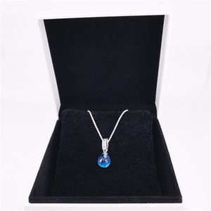 Hotselling Fine S925 Silver Charm With 925 Necklace Silver Authentic Clear Cubic Zirconia Chain Sterling Jewelry Necklace DIY Sgblk