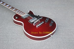 New Arrival Wine Red Custom Electric Guitar Chrome Hardware OEM From China