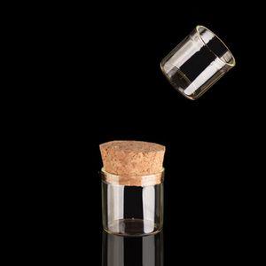 5G pequeñas botellas de cristal con los tapones de corchos 5ml de alta calidad de la cristalería / Glas Jar Mini Test Tube