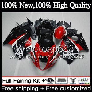 Cuerpo para SUZUKI Hayabusa GSXR1300 96 07 1996 1997 1998 56PG37 GSXR 1300 GSXR-1300 GSX R1300 1999 2000 2001 Red black Fairing Bodywork