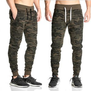 All'ingrosso-New Fashion Casual Fit Tuta Bottoms Camouflage Gym Pants Mens Sport Jogging Pantaloni da ginnastica elastici Pantaloni Casual da palestra