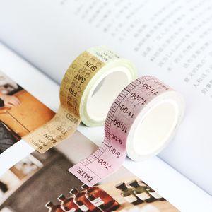 Time Schedule Japanese Washi Tape Functional Adhesive Tape Masking Decoration DIY Sticky Paper Photo 2016