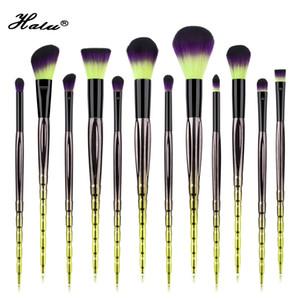 Halu 12pcs Shooting Star Professional Foundation Set de pinceles de maquillaje Sombra de ojos Pincel corrector en polvo Juego de cepillos