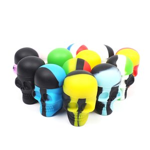 Slick Skull Screw Top NonStick Silicone Container Retire Icky de los Sticky Slick Containers
