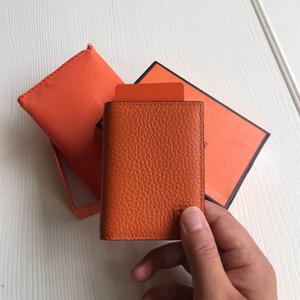 العلامة التجارية صور حقيقية تصميم الأزياء الرجال / النساء حامل بطاقة الائتمان سليم البنك بطاقة الهوية حالة حقيقية الجلود حامل بطاقة الأعمال مع مربع حقيبة الغبار
