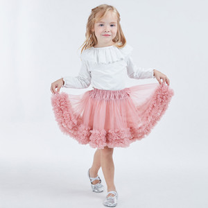 INS Hot Design TUTU Girl Dress Baby Gonna Lace Dress Gonne Mini Dance Wear Pettiskirt Balletto danza abiti in pizzo Bubble Gonna