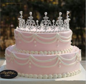 Nova Chegada 2019 DIY Decoração Do Bolo De Casamento De Prata / Ouro Faux Pérolas Rhinestone Nupcial Tiara / Coroa Headpieces Acessórios