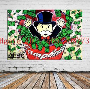 Tableau Alec Monopoly, Wohnkultur HD gedruckt moderne Kunst Malerei auf Leinwand (ungerahmt / gerahmt)