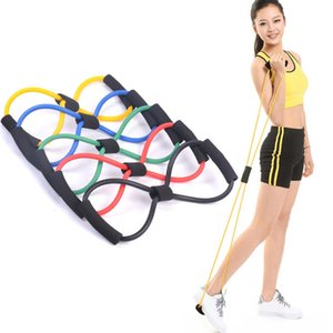 8 Shaped elastische Gummischlaufe Pull Seil Sport Gummibänder Tension Chest Harness Expander-Band-Yoga Pilates Home Gym Fitness Gürtel