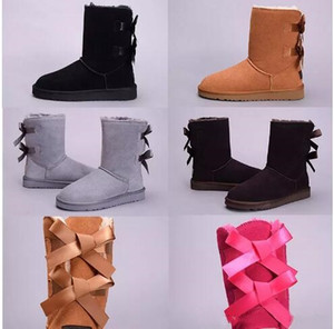 2018 winter Australia Classic snow Boots High Quality WGG tall boots real leather Bailey Bowknot women's bailey bow Knee Boots shoes 4